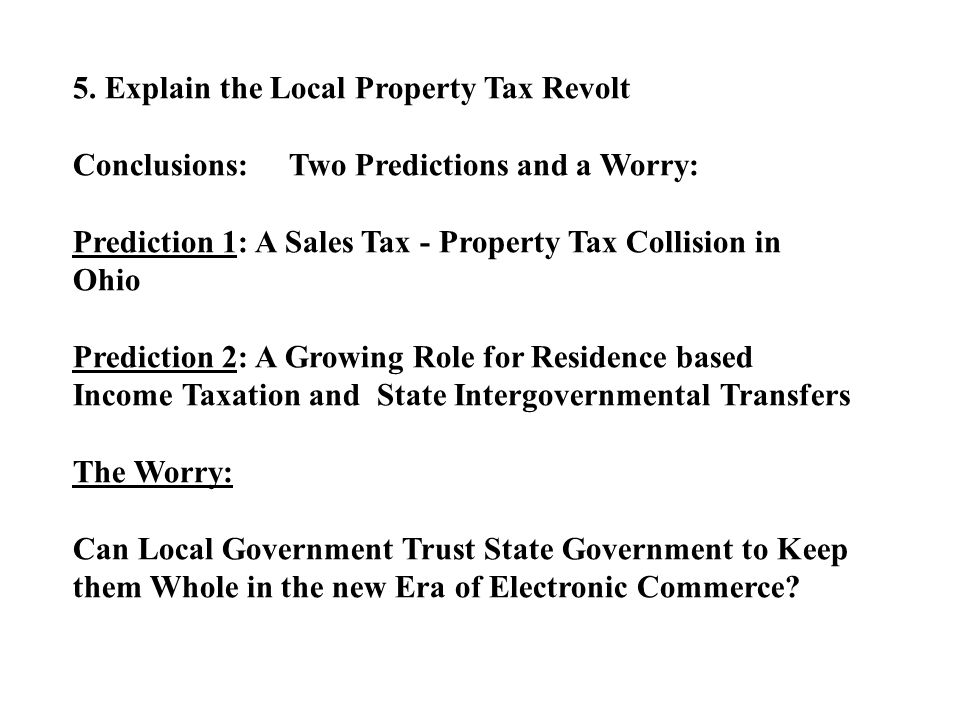Residential Share of State-Wide Property Tax Base: 18 states
