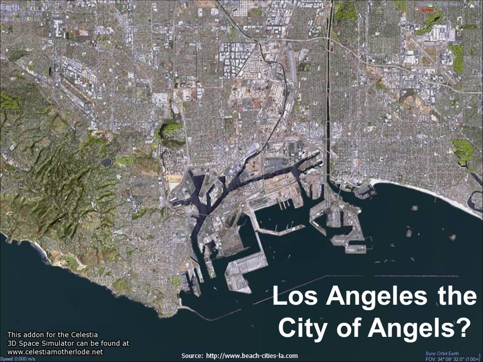 Los Angeles the City of Angels Source: http://www.beach-cities-la.com