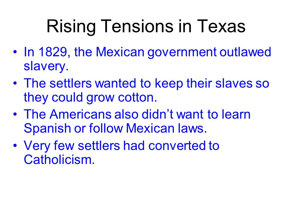 The success of Austin's colony attracted more land speculators and settlers to Texas from the United States. Some were looking for a new life, some we