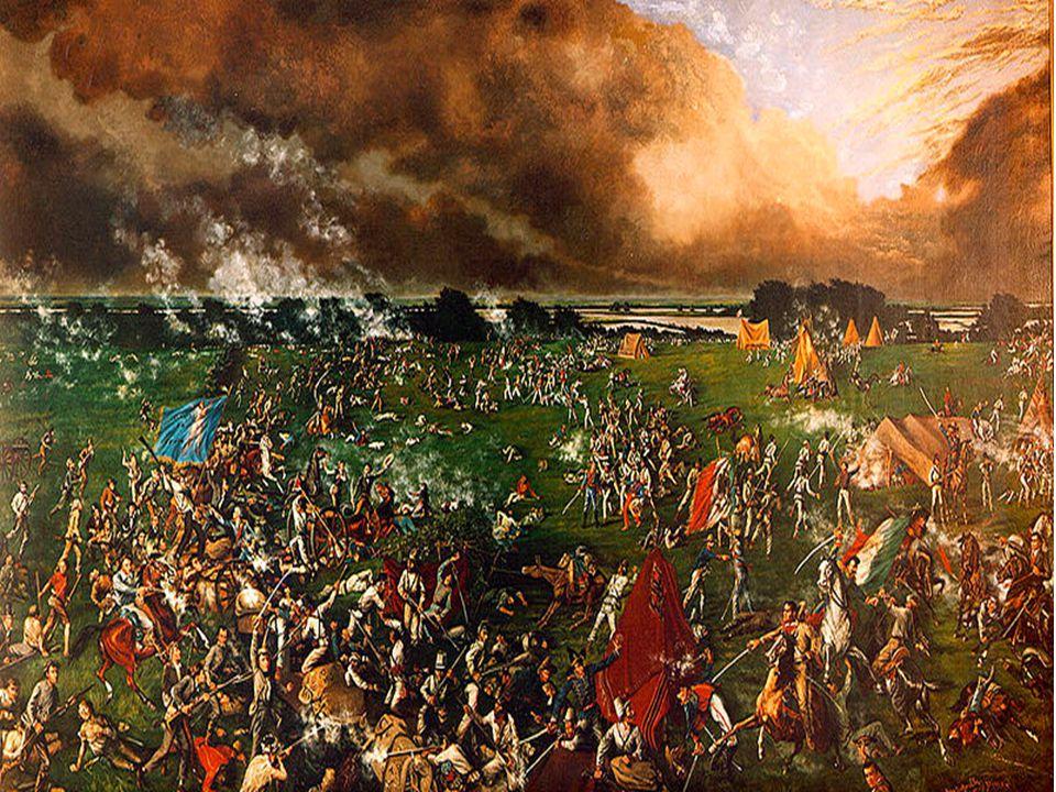 Battle at San Jacinto 10.Santa Anna had over 300 more Texans executed at Golidad. 11.Texan general, Sam Houston gathered more troops, 800 in all. It i