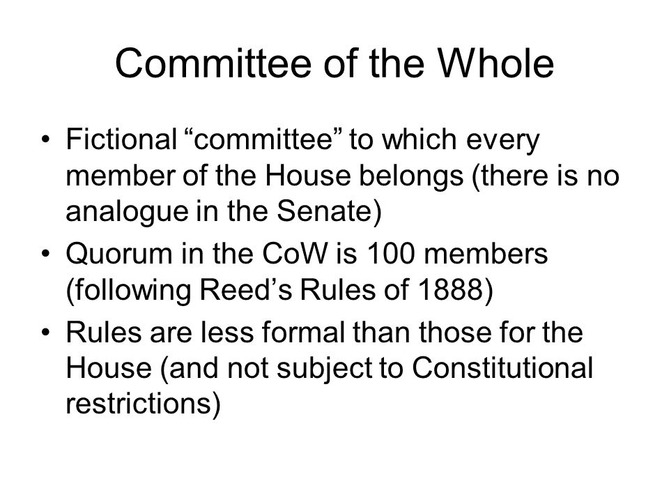 The Early Senate Prior to 1816, Senate had no standing committees, then suddenly formed 12 Early Senates essentially waited on the House to initiate legislation Partly due to British System (House of Commons initiates legislation) But, also remember that Confederation Congress was unicameral