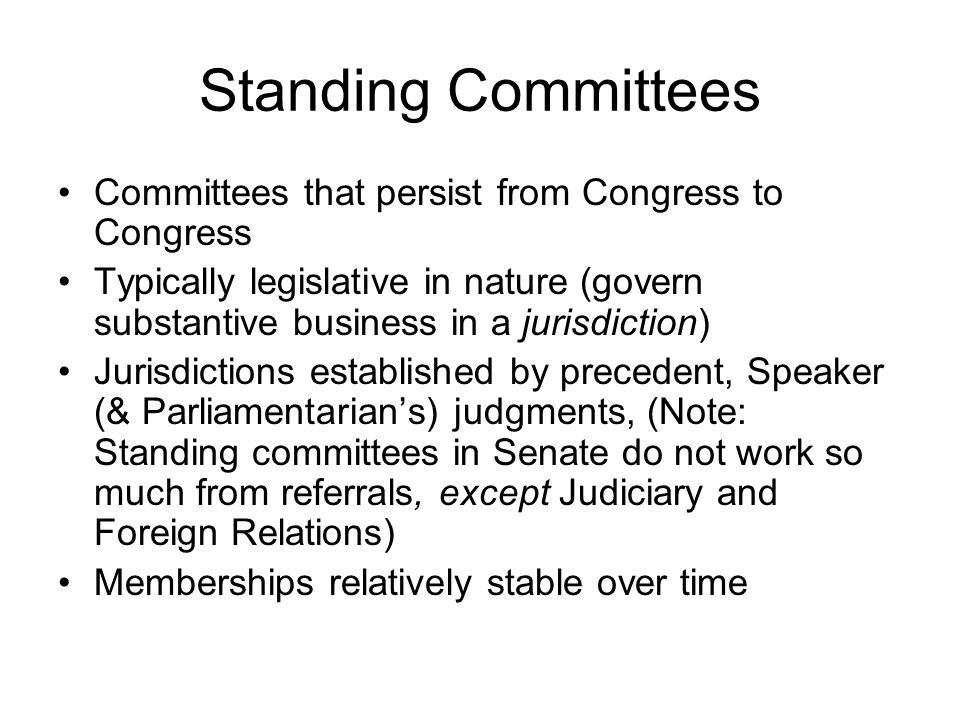 The LRA of 1970 Established formal requirements for committees: –Required formal rules for each committee –Opened hearings to public –Seniority starts to play smaller role in chair determination