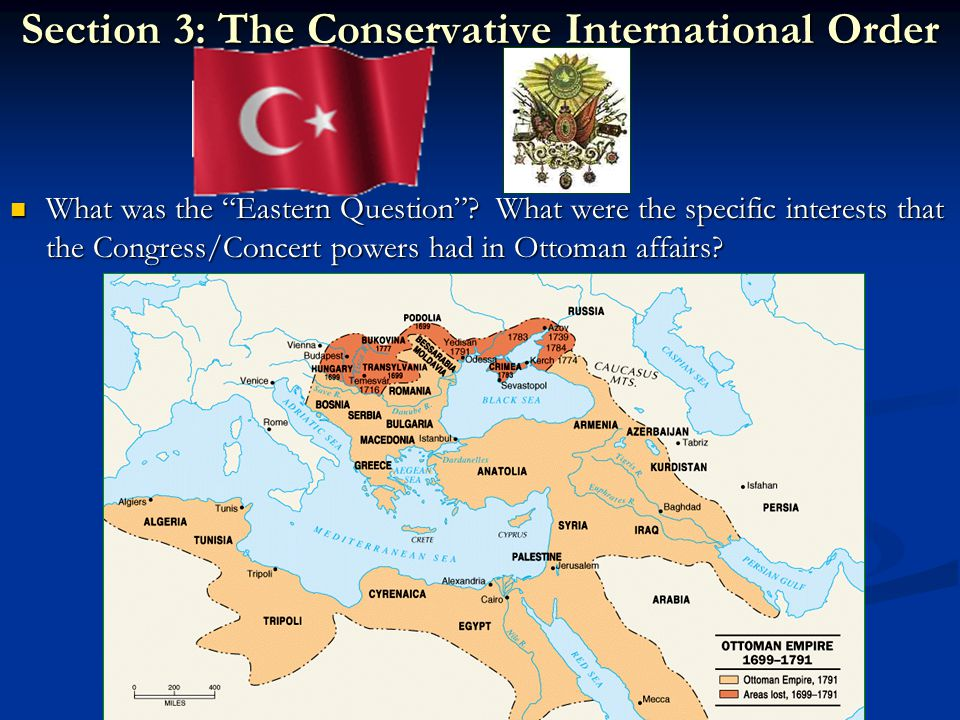 Section 3: The Conservative International Order What was the Eastern Question .