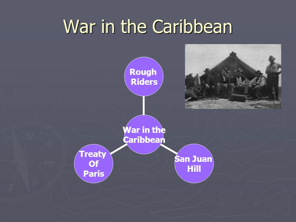 War in the Caribbean War in the Caribbean Rough Riders San Juan Hill Treaty Of Paris