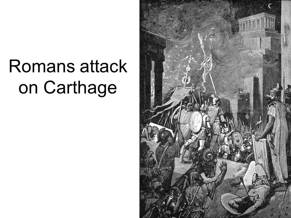 Romans attack on Carthage