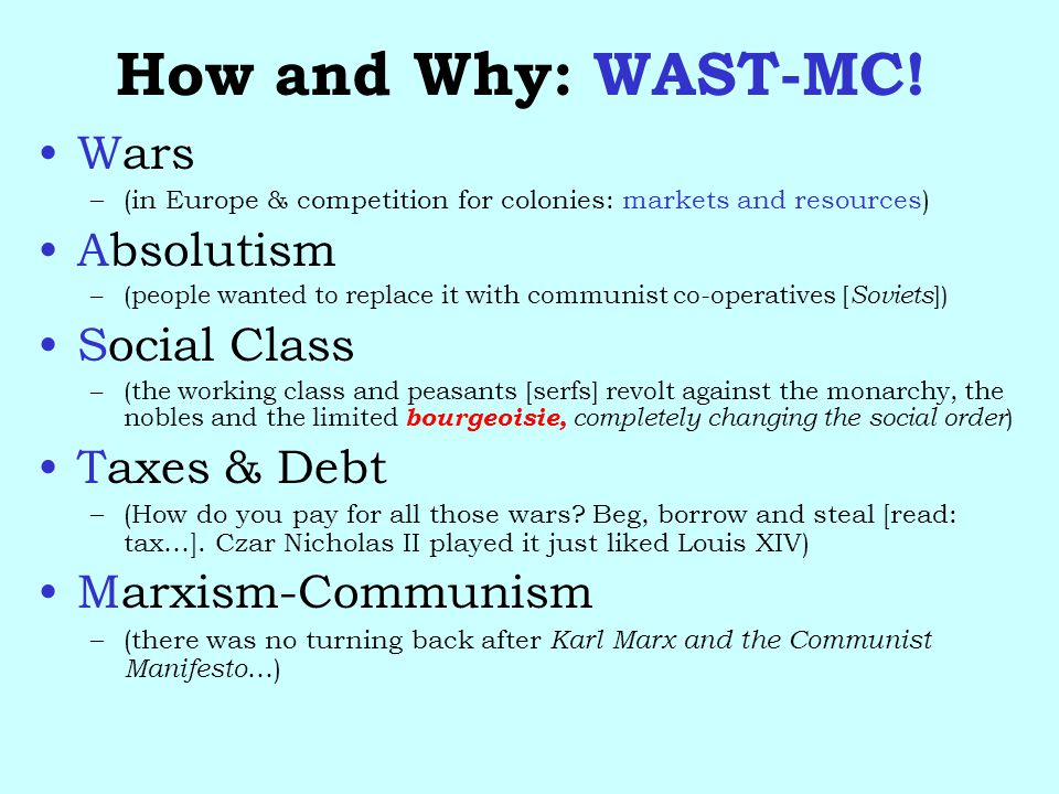 How and Why: WAST-MC.