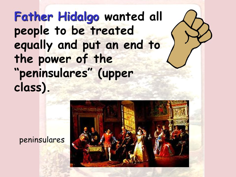 On September 16, 1810, he issued his Grito de Dolores or Cry of Dolores Father Miguel Hidalgo Father Miguel Hidalgo called for Mexico's independence from Spain.
