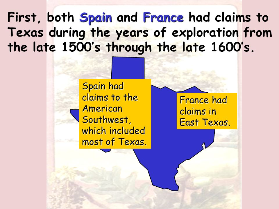 We have now seen three flags fly over Texas, and various individuals make claims to the land.
