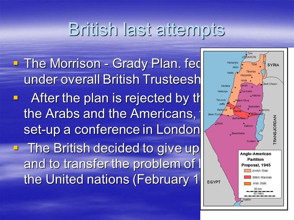 British last attempts  The Morrison - Grady Plan.