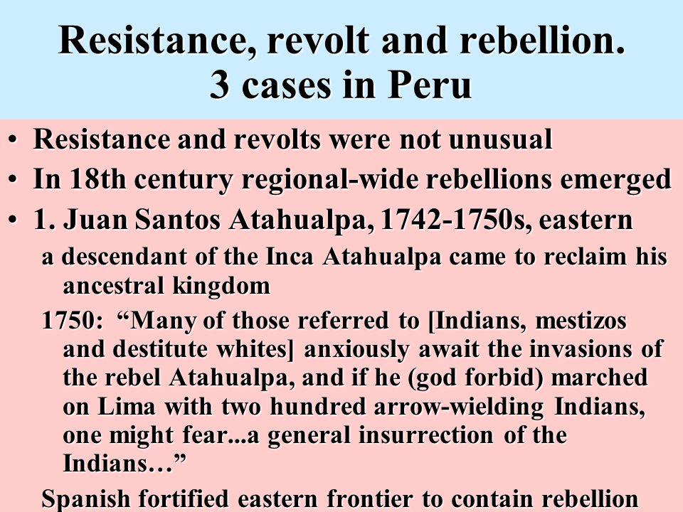 Resistance, revolt and rebellion.