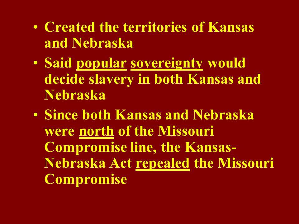 Identify the Kansas- Nebraska Act.