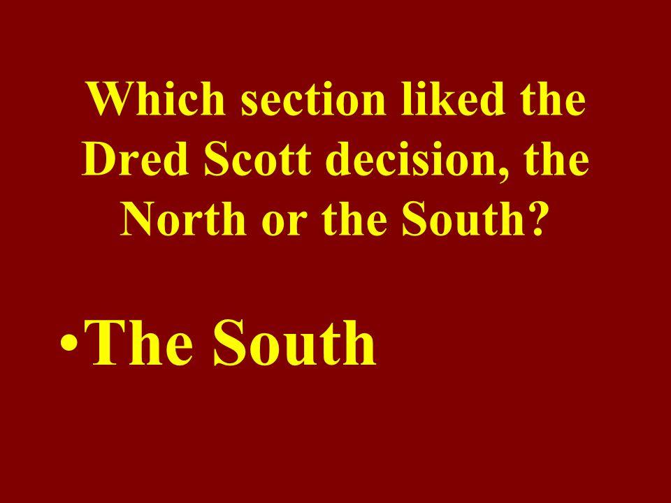 In Dred Scott v.