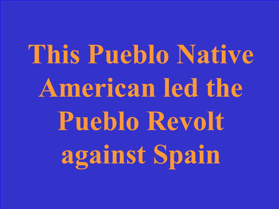 What is the Pueblo Revolt