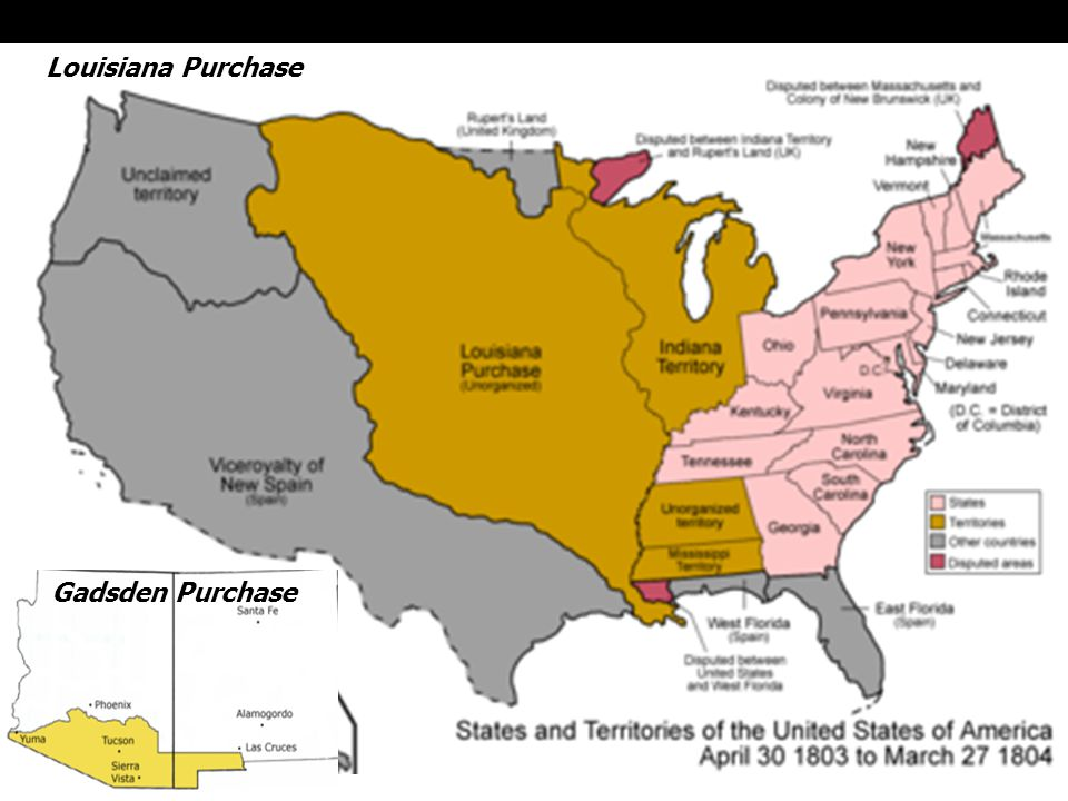 Gadsden Purchase Louisiana Purchase