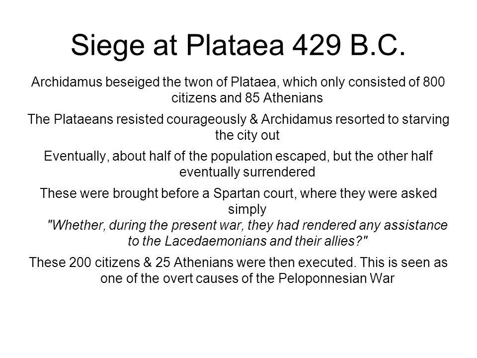 Siege at Plataea 429 B.C.