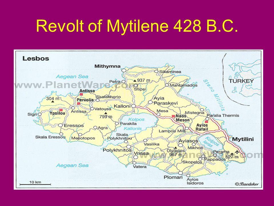 Revolt of Mytilene 428 B.C.