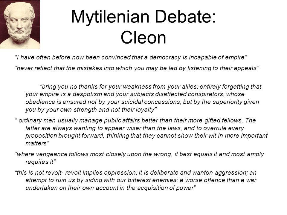 Mytilenian Debate: Cleon