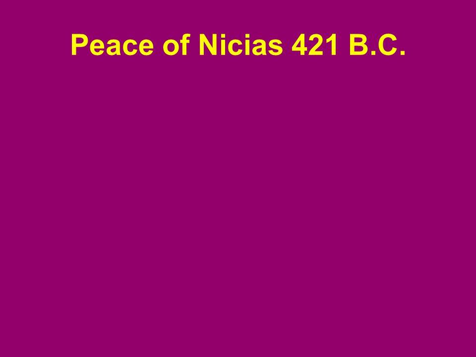 Peace of Nicias 421 B.C.