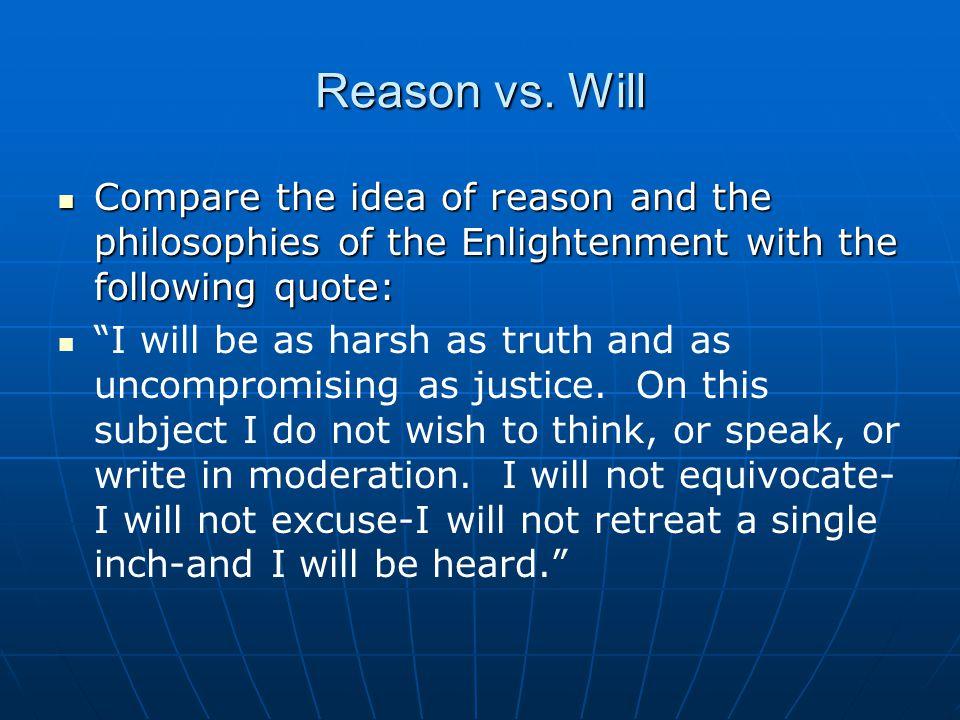 Reason vs.