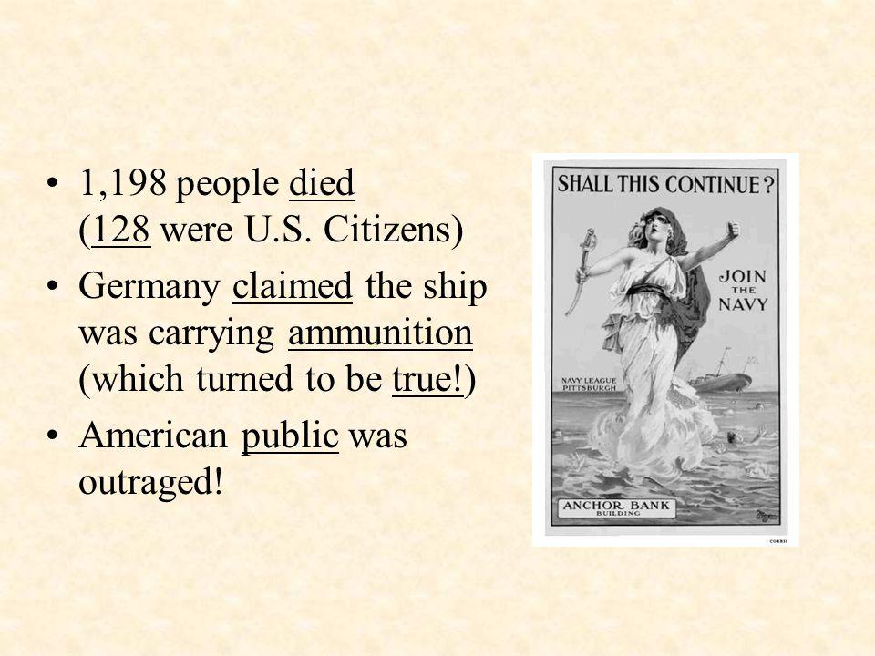 1,198 people died (128 were U.S.