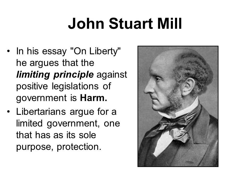 John Stuart Mill In his essay