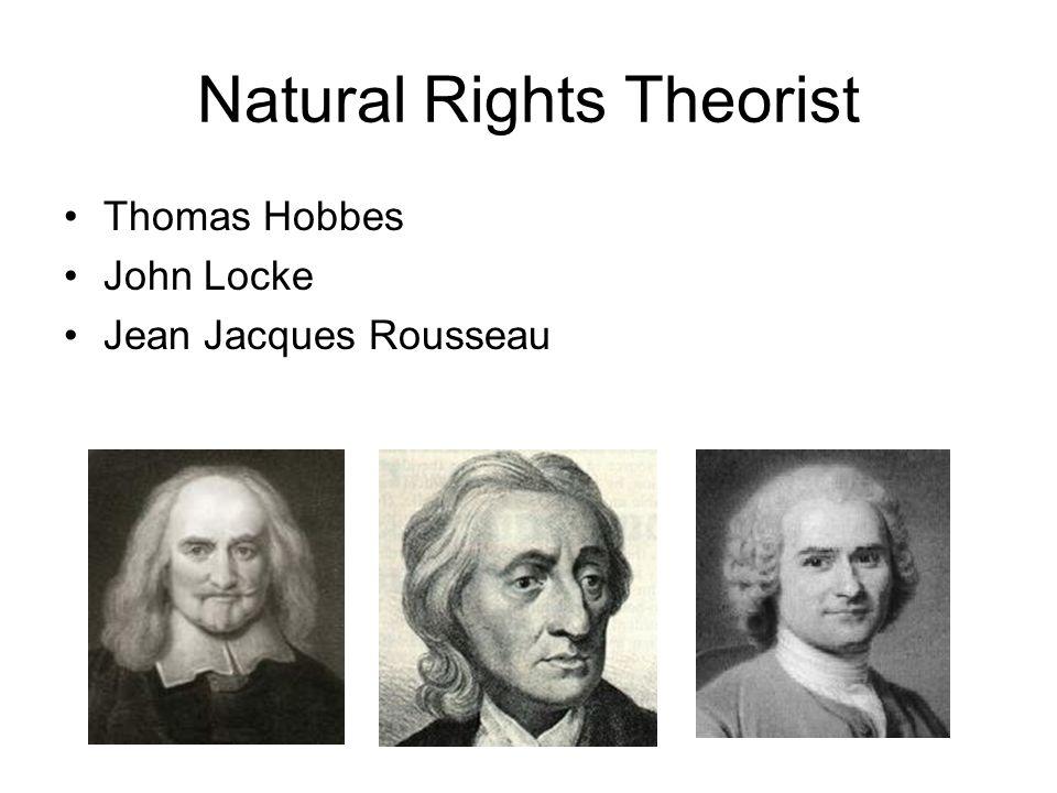 Natural Rights Theorist Thomas Hobbes John Locke Jean Jacques Rousseau