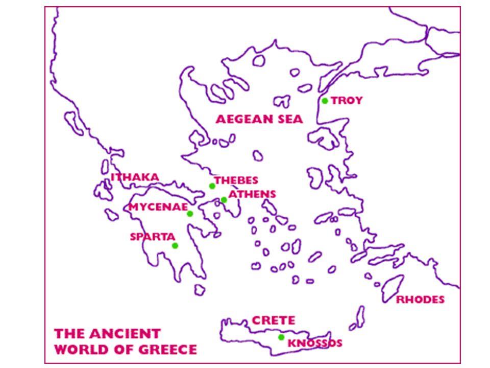 Basic Greek Timeline ~ 2500 BCE 338 BCE Minoans (lived on Crete) Mycenaeans (mainland) Dorians – invaders (dark age) Ionians – the Greeks elements) (brought back Mycenaean