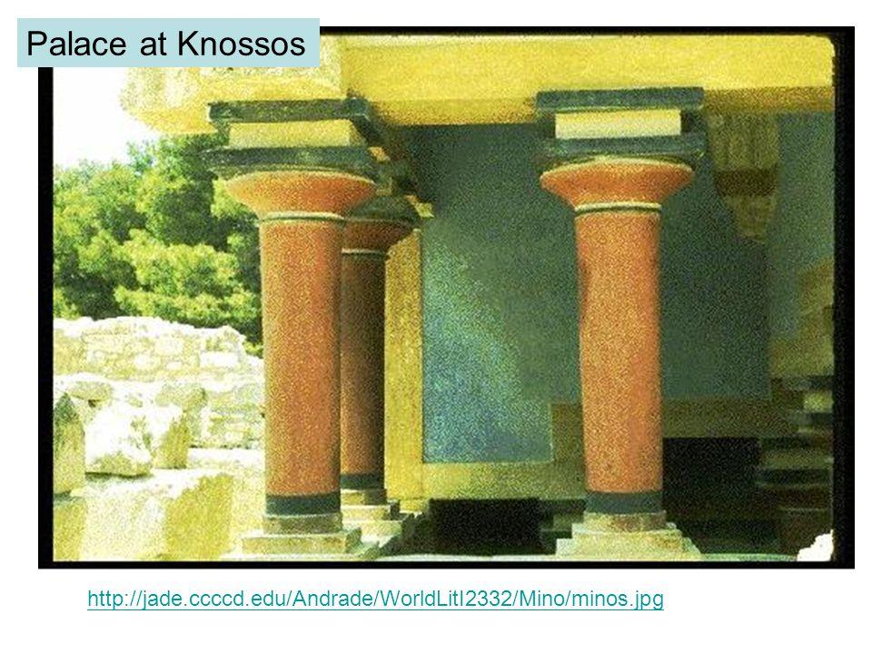 The Queen s megaron, Palace of Minos, Knossos, c. 1600-1400 B.C.E. Vanni/Art Resource, NY.