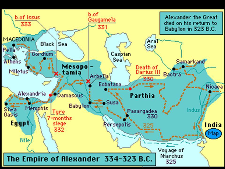 Alexander's conquest.