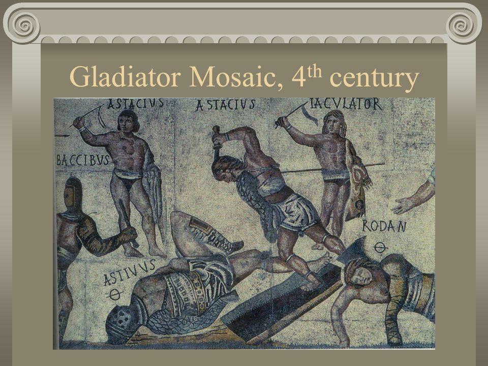 Gladiator Mosaic, 4 th century