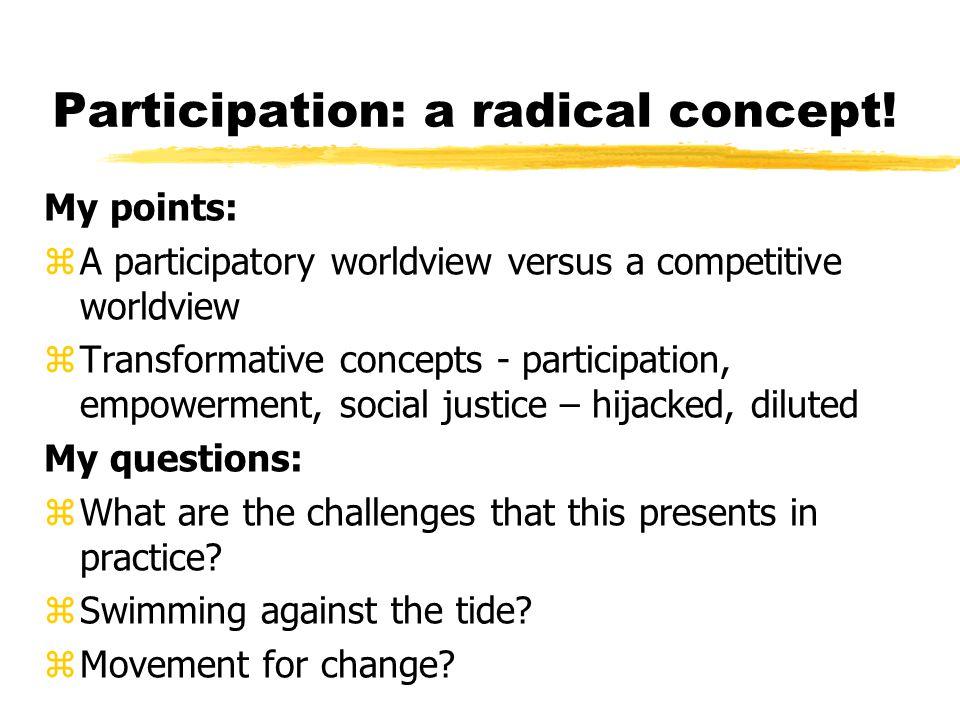 Hegemony pathologises: Participation as empowerment