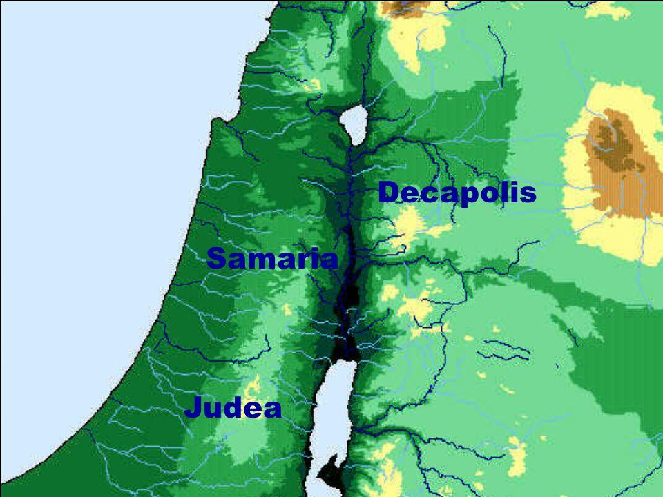 Judea Decapolis Samaria
