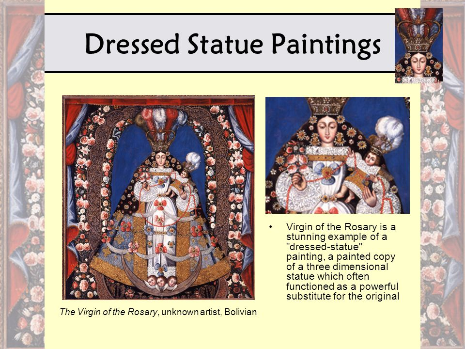 Dressed Statue Paintings Virgin of the Rosary is a stunning example of a