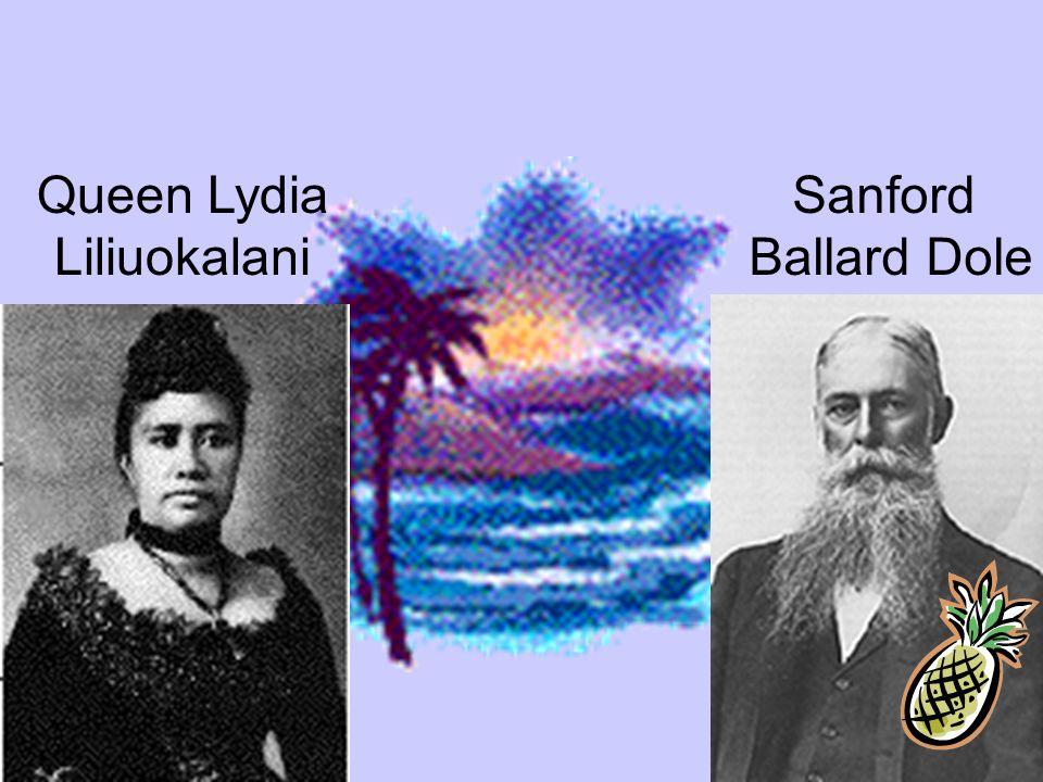 Queen Lydia Liliuokalani Sanford Ballard Dole