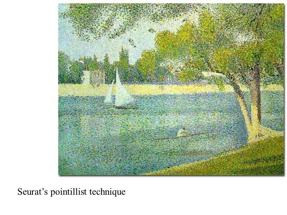 Seurat's pointillist technique