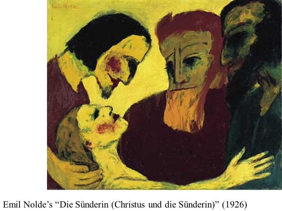 Emil Nolde's Die Sünderin (Christus und die Sünderin) (1926)