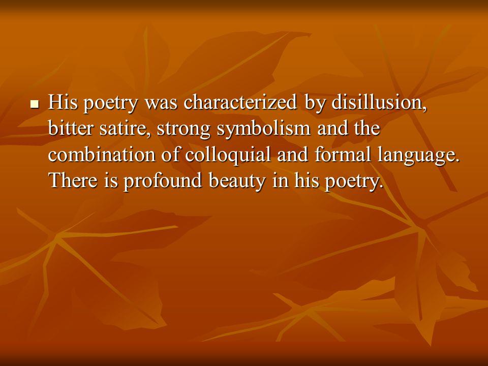 Three influences of modern poetry 1.Imagism 1. Imagism 2.