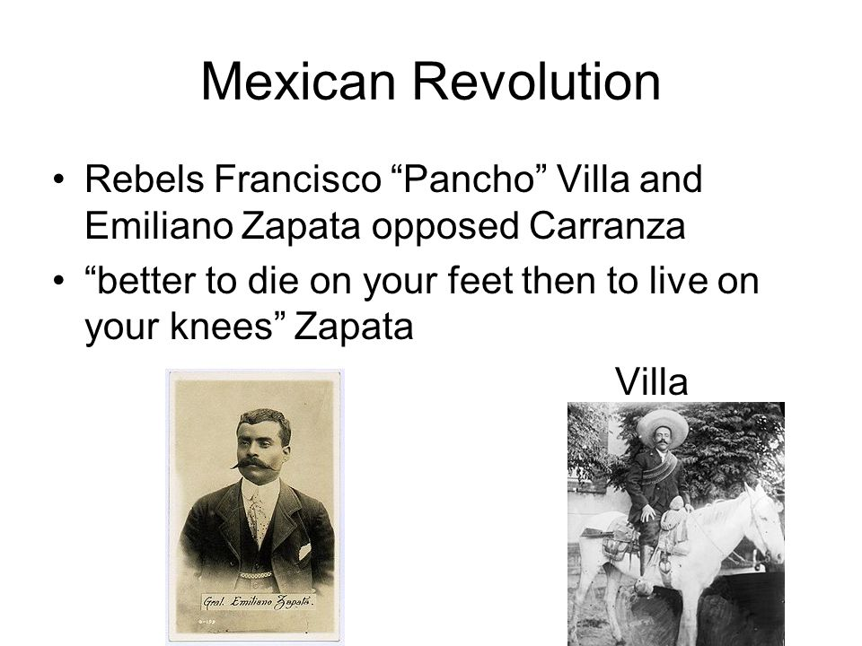 Victoriano Huerta takes over 1914 Huerta's officers arrest American soldiers…later release President Wilson invades Mexico Huerta steps-down and Carra