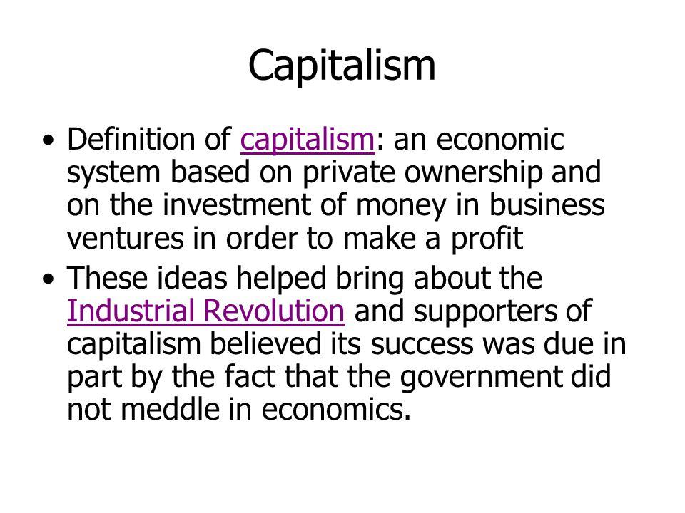 The Philosophers of Capitalism Thomas Malthus (1766-1834) David Ricardo (1772-1823)