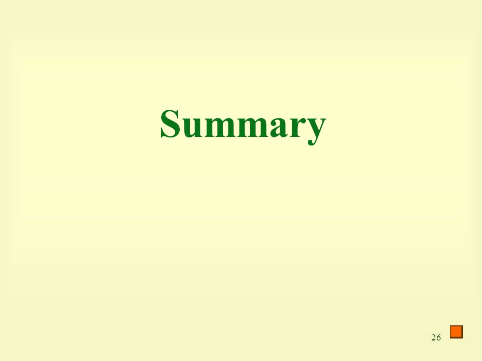 26 Summary