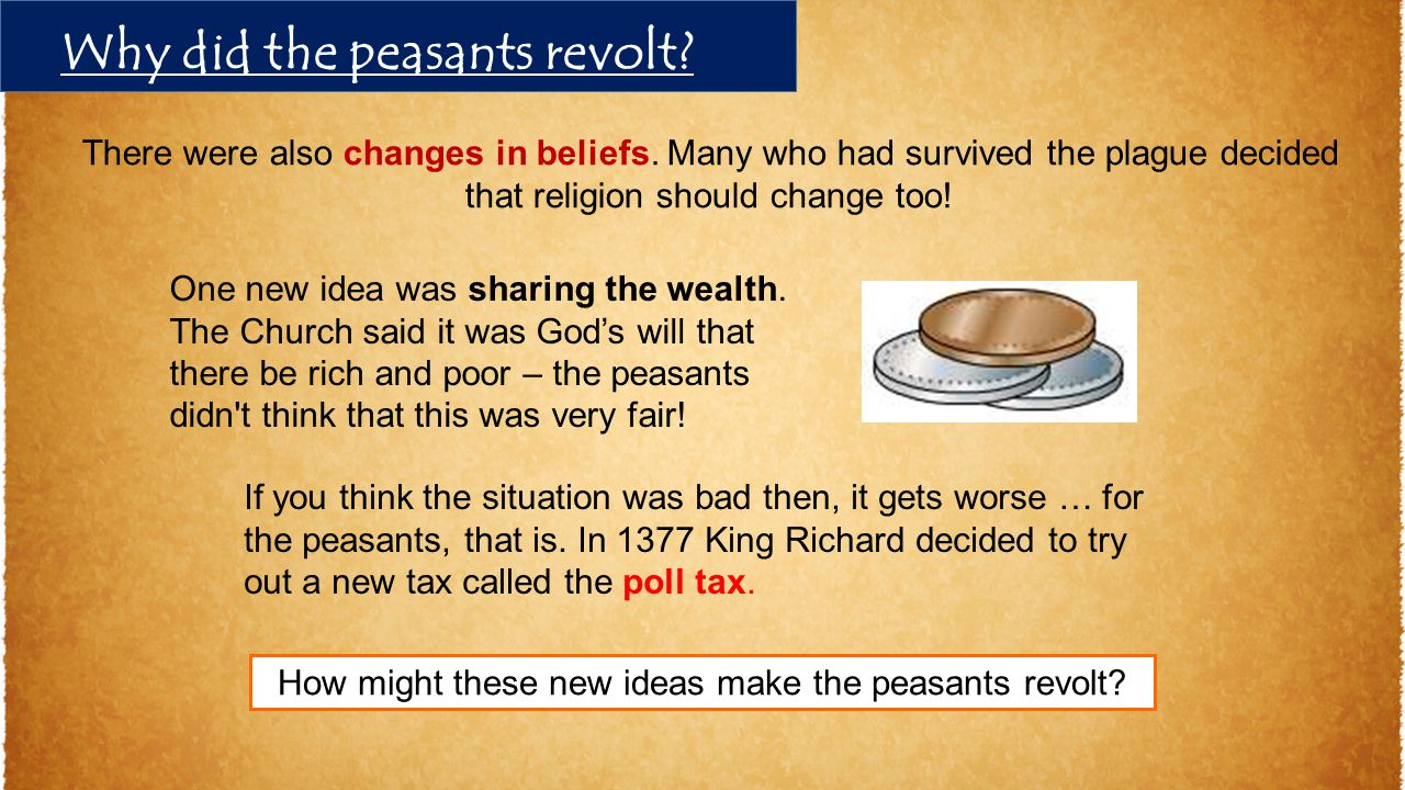 There were also changes in beliefs. Many who had survived the plague decided that religion should change too! One new idea was sharing the wealth. The