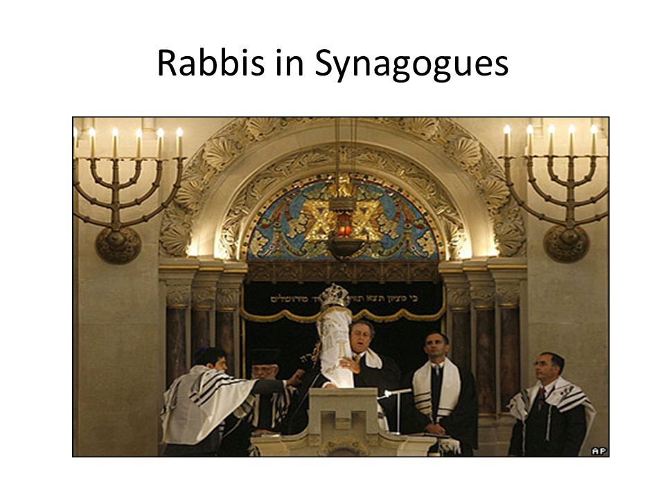 Rabbis in Synagogues