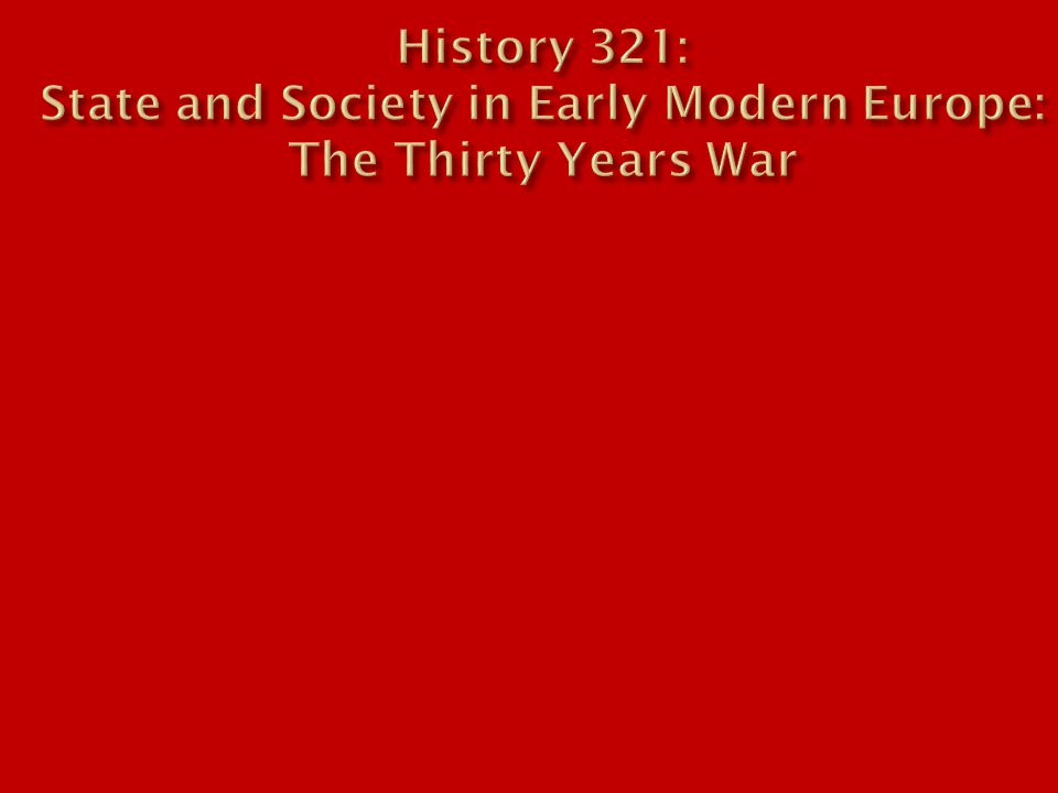  What sort of war was the Thirty Years War when it began.