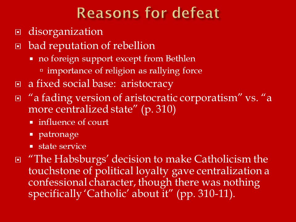  the formation of a solidly Catholic political and social elite (p.