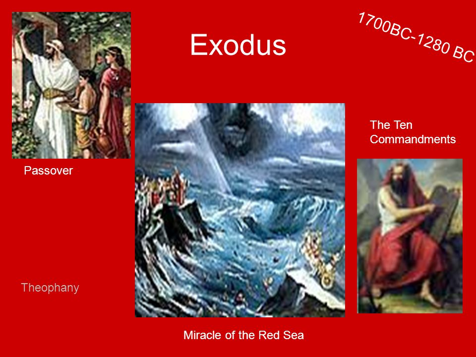 Exodus Passover Miracle of the Red Sea The Ten Commandments 1700BC-1280 BC Theophany