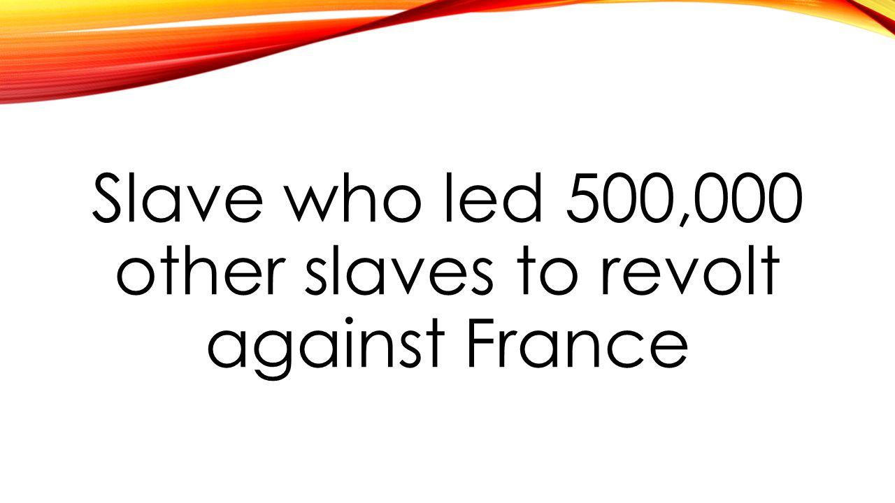 Slave who led 500,000 other slaves to revolt against France
