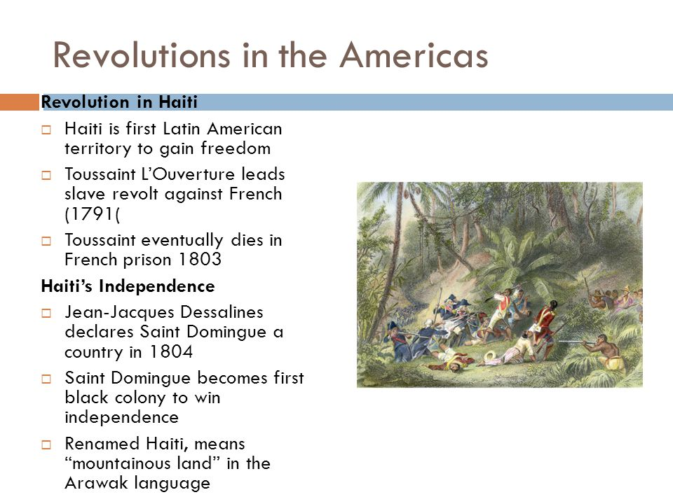 Creoles Lead Independence Creole Leaders  Simon Bolivar – wealthy Creole leads Venezuela in revolution  Jose de San Martin – leader of Argentinean revolutionary force Bolivar's Route to Victory  Venezuela declares independence in 1811; Bolivar wins war by 1821 San Martin Leads Southern Liberation Forces  Argentina independent in 1816; San Martin helps free Chile  Bolivar's and San Martin's armies drive Spanish out of Peru in 1824