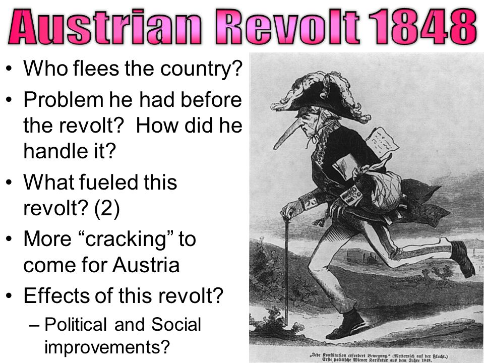 Who flees the country. Problem he had before the revolt.