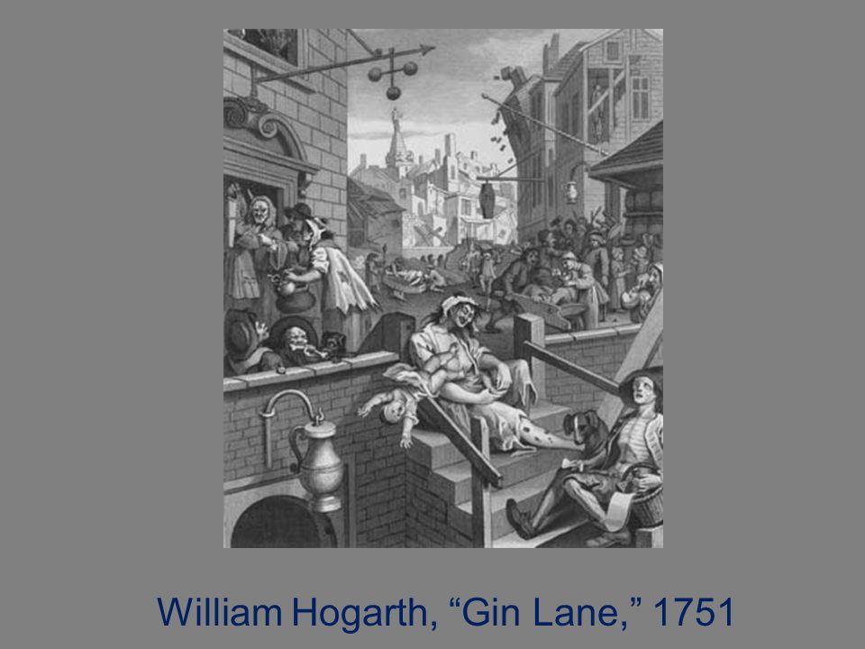 """William Hogarth, """"Gin Lane,"""" 1751"""