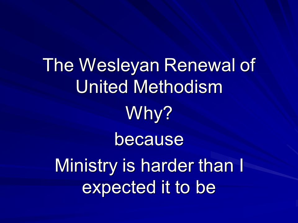 If genuine revival ever comes to America, it will come through the United Methodists.